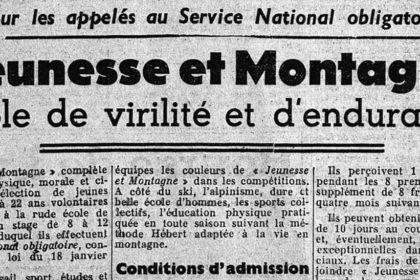 Jeunesse et montagne - Ecole de virilité et d'endurance - Wandervogel-France