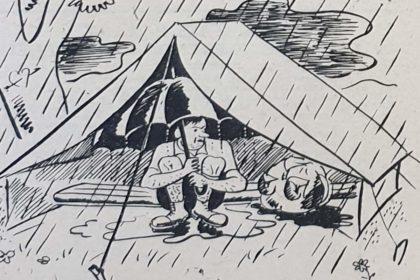 Il pleut sous la tente