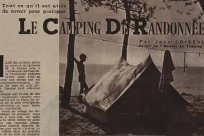 Le camping de randonnée par Jean Loiseau