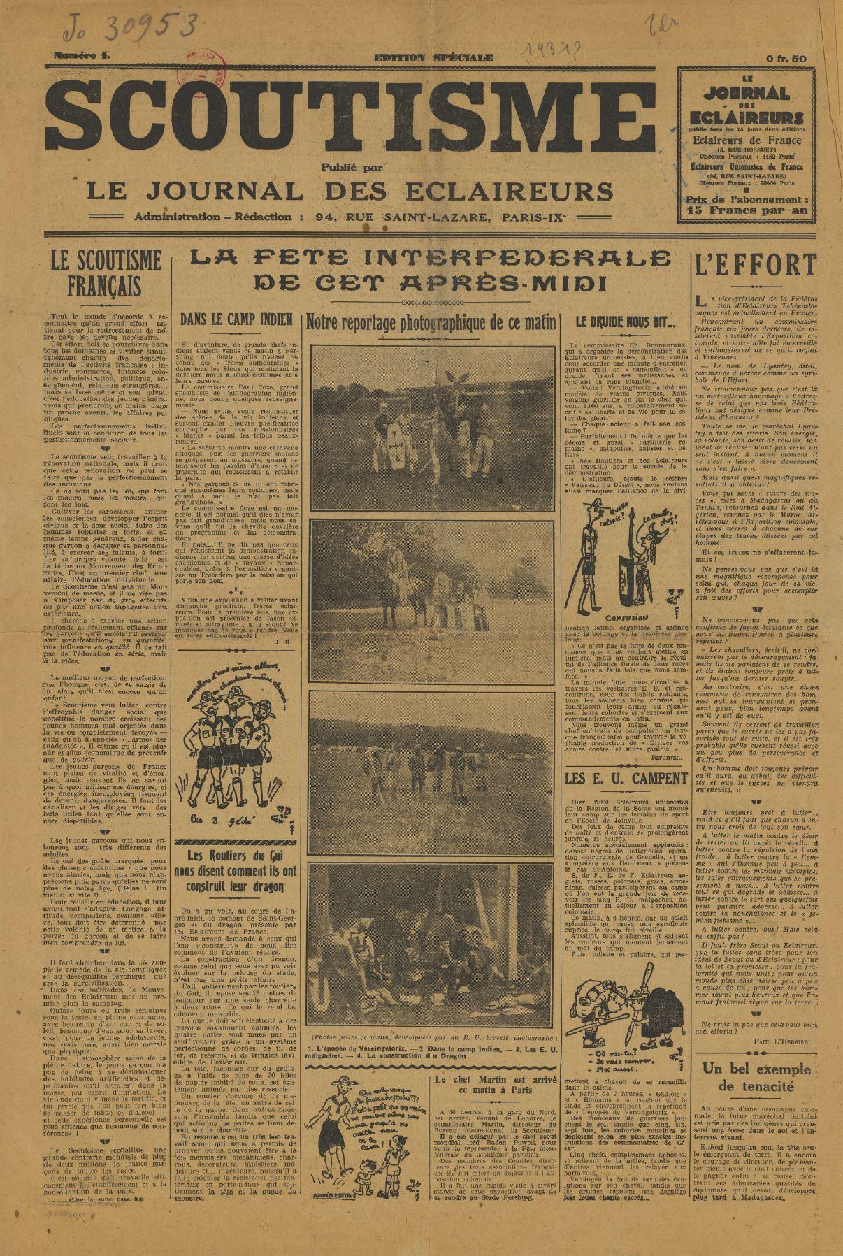 1931-06_Le scoutisme publié par Le journal des éclaireurs
