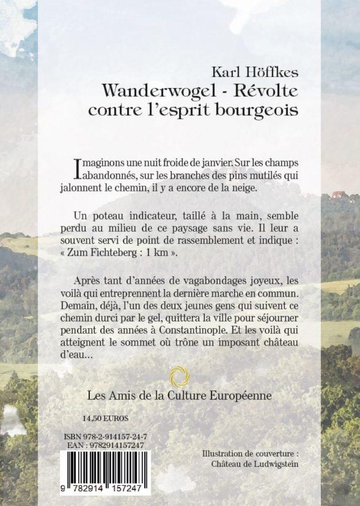 Höffkes, Karl - Wandervogel - Révolte contre l'esprit bourgeois - 4ème Couverture