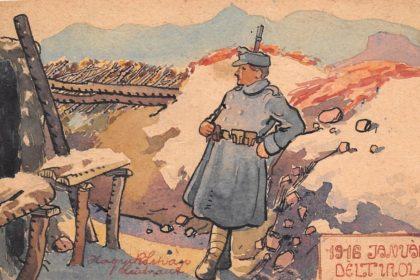 Soldat ajiste - Dans les tranchée